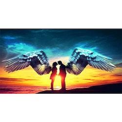 Diamanttavla Angel Couple 50x100 - Leveranstid 1-3 Dagar