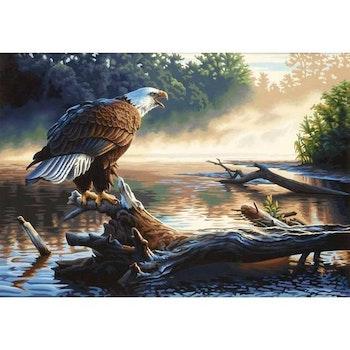 Diamanttavla Eagle River 50x70 - Leveranstid 1-3 dagar