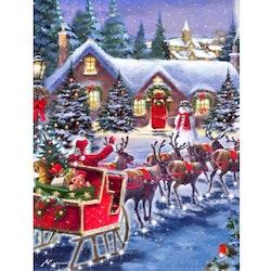 Diamanttavla Santa With Deers 60x80 - Leveranstid 1-3 Dagar