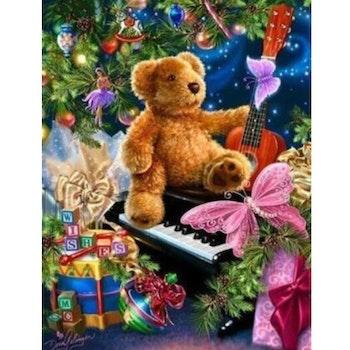 Diamanttavla Christmas Teddybear 60x80 - Leveranstid 1-3 Dagar