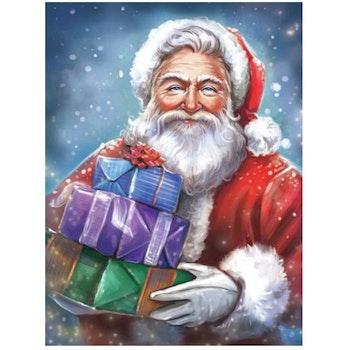 Diamanttavla Santa With Gifts 40x50 - Leveranstid 1-3 Dagar