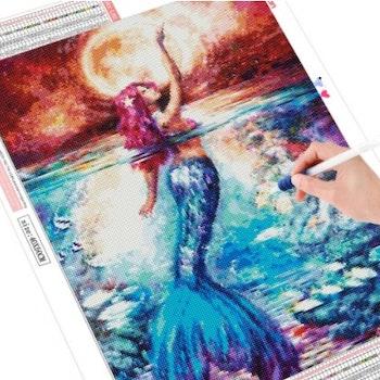 Diamanttavla Mermaid 40x50 - Leveranstid 1-3 Dagar