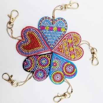 Nyckelringar Hjärtan 5-pack - Leveranstid 1-3 Dagar