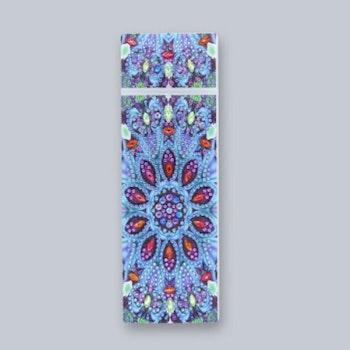 Diamanttavla Pennfack Blue Flower 21 cm  Leveranstid 1-3 Dagar