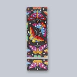 Diamanttavla Pennfack Fjärilar 21 cm  Leveranstid 1-3 Dagar