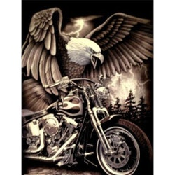 Diamanttavla Eagle Bike 50x70- Leveranstid 1-3 Dagar