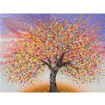 Diamanttavla Color Summer Tree 50x70 - Leveranstid 1-3 Dagar