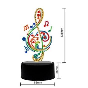 Diamond Painting Ledlampa Music ca 18 cm - Leveranstid 1-3 Dagar