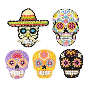 Diamond Painting Stickers Skulls 5 Pack - Leveranstid 1-3 Dagar