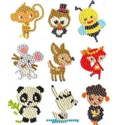 Diamond Painting Stickers Animals 9 Pack - Leveranstid 1-3 Dagar