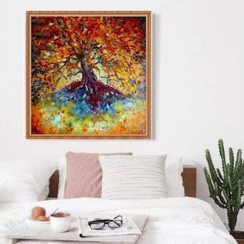 Diamanttavla Beautiful Color Tree 50x50 - Leveranstid 1-3 Dagar