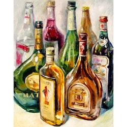 Diamanttavla Brand Bottles 40x50 - Leveranstid 1-3 Dagar