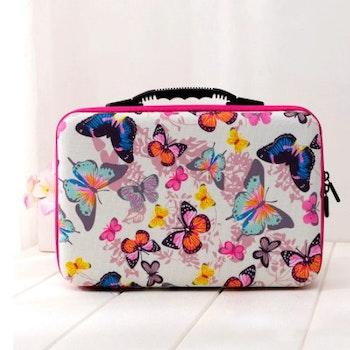 Pärlförvaring Väska Fjärilar Osorterad Färg Med 30 Burkar