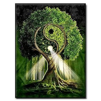 Diamanttavla Tai Chi Tree 60x90 - Leveranstid 1-3 Dagar