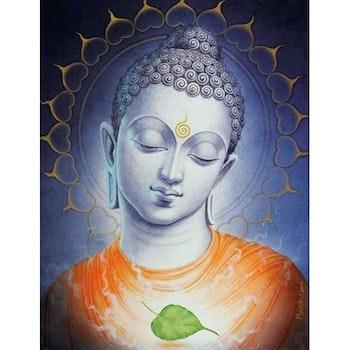 Diamanttavla (R) Buddha Leaf 40x50 - Leveranstid 1-3 Dagar