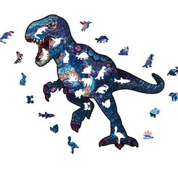Animal Wood Puzzle Dino ca 26x27 Cm  - Leveranstid 1-3 Dagar