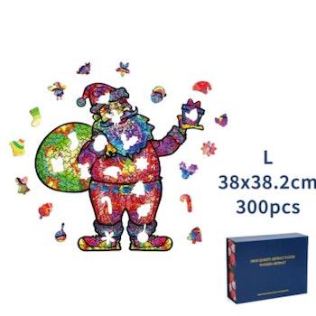 Christmas Wood Puzzle Santa ca 38x38 Cm  - Leveranstid 1-3 Dagar