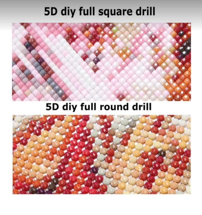 Diamanttavlor Snögubbepar 40x40 - Leveranstid 1-3 Dagar