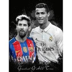 Diamanttavla Ronaldo And Messi 50x70 - Leveranstid 1-3 Dagar