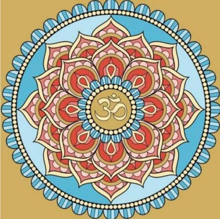 Diamanttavla Mandala Lotus Flower 50x50 - Leveranstid 1-3 Dagar
