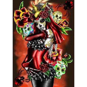 Diamanttavla Mexican Candyskull Beauty - Leveranstid 1-3 Dagar