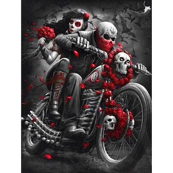 Diamanttavla Skull Bike 50x70 - Leveranstid 1-3 Dagar