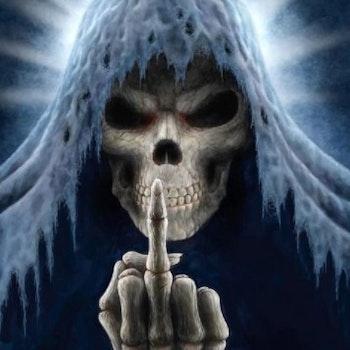 Diamanttavla Skelton Finger 50x70 - Leveranstid 1-3 Dagar