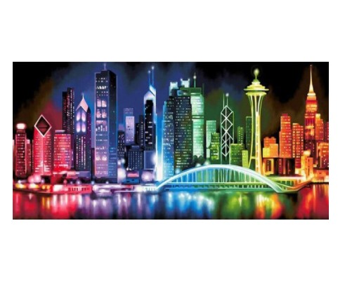 Diamanttavla Big Color City 50x100 - Leveranstid 1-3 Dagar