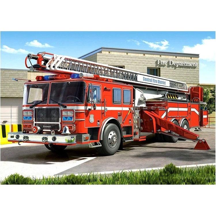 Diamanttavla Fire Truck 50x70 - Leveranstid 1-3 Dagar