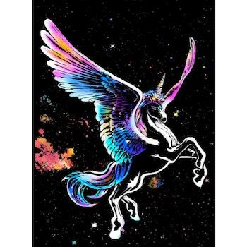 Scratch Painting Unicorn 41x28,7 cm - Leveranstid 1-3 Dagar