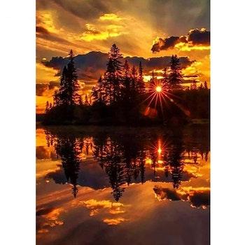 Diamanttavla Sunset Nature 50x70 - Leveranstid 1-3 Dagar