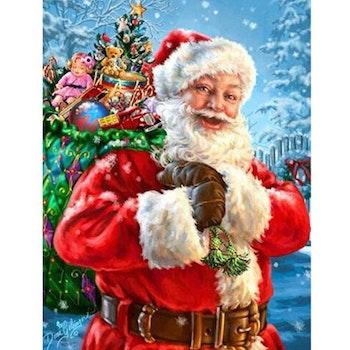 Diamanttavla Happy Santa 60x80 - Leveranstid 1-3 Dagar