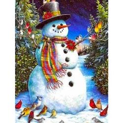 Diamanttavla Snowman Birds 40x50 - Leveranstid 1-3 Dagar