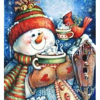 Diamanttavla Snowman With Choklad 40x50 - Leveranstid 1-3 Dagar