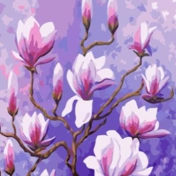 Paint By Numbers Magnolia 40x50 - Leveranstid 1-3 Dagar