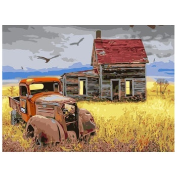 Paint By Numbers Old Farm 40x50 - Leveranstid 1-3 Dagar