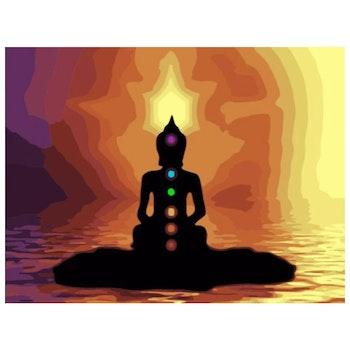 Paint By Numbers Buddha Chakra 40x50 - Leveranstid 1-3 Dagar