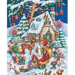 Diamanttavla Christmastime 50x70 - Leveranstid 1-3 Dagar