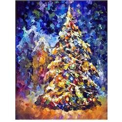 Diamanttavla Color Christmastree 40x50- Leveranstid 1-3 Dagar