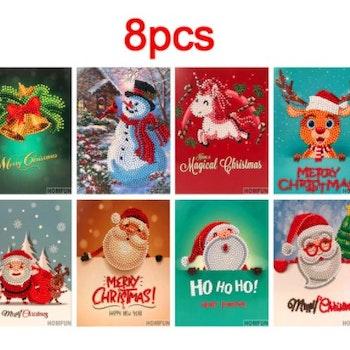 Julkort 8-pack 20x15 cm - Leveranstid 1-3 Dagar