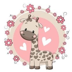Diamanttavla Cute Giraffe 30x30 - Leveranstid 1-3 Dagar