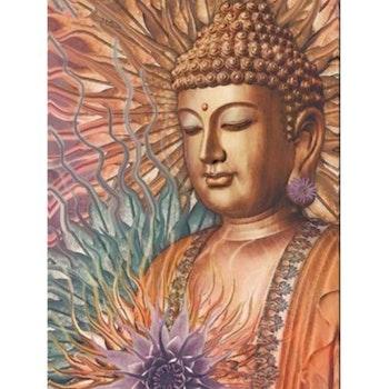 Diamanttavla Buddha Flower 40x50 - Leveranstid 1-3 Dagar