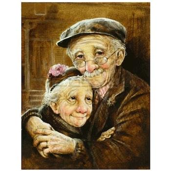 Diamanttavla (R) Old Love Couple 40x50 - Leveranstid 1-3 Dagar