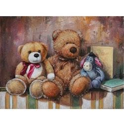 Diamanttavla (R) Toy Bear And Ior 40x50 - Leveranstid 1-3 Dagar