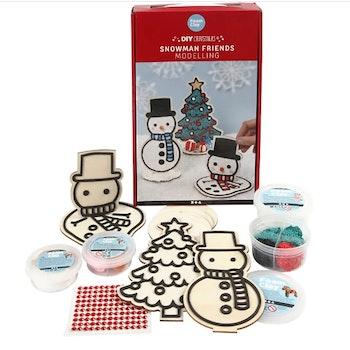 Pyssel Snögubbe och julgran, 1 set