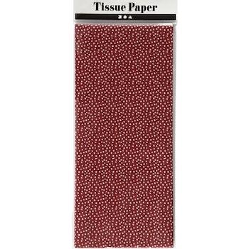 Silkespapper, 50x70 cm, 17 g, röd, 6 ark/ 1 förp - Leveranstid 1-3 Dagar