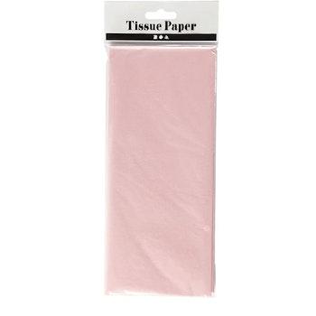 Silkespapper, 50x70 cm, 17 g, ljusrosa, 10 ark/ 1 förp - Leveranstid 1-3 Dagar
