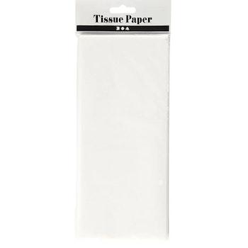Silkespapper, 50x70 cm, 17 g, vit, 10 ark/ 1 förp. - Leveranstid 1-3 Dagar