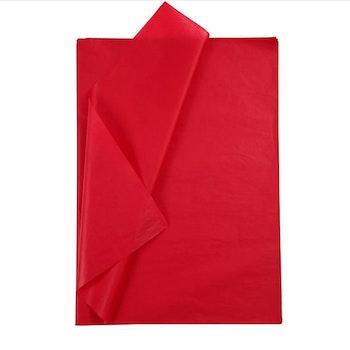Silkespapper, 50x70 cm, 17 g, röd, 25 ark/ 1 förp. - Leveranstid 1-3 Dagar