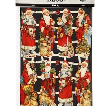 Bokmärken, Jultomte med julklappar, 16,5x23,5 cm, 2 ark/ 1 förp. - Leveranstid 1-3 Dagar